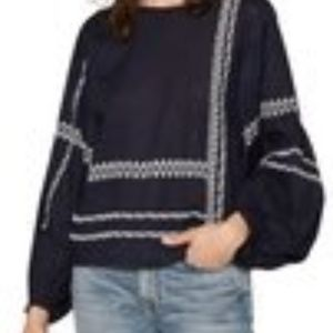 NWT Joie Boho Embroidered Top XS